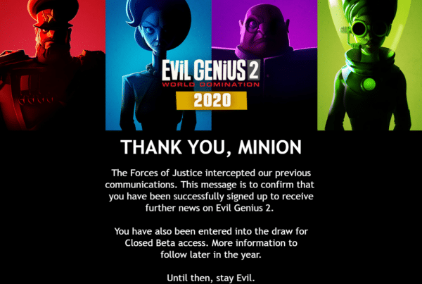 Evil Genius 2 - Email Confirmed